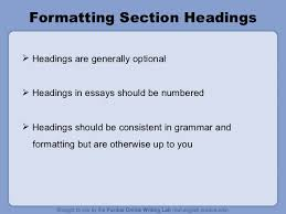 mla format ppt sample 1st page 11 formatting section headings