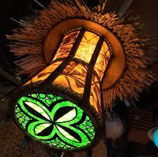 tiki lighting. Makalapua Tapa Tiki Lamp At False Idol, San Diego Lighting O