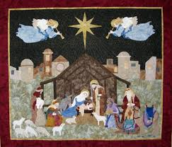 NATIVITY quilt wall hanging, 49 x 55
