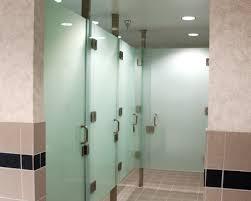 crl frameless all glass restroom partition system