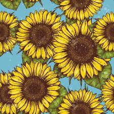 Sunflower Pattern Delectable Sunflower Vintage Seamless Pattern Sunflower Retro Background