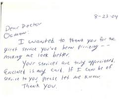 sample thank you letter to doctor thank you letter  sample thank you letter to doctor