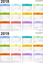 two year calender calendars 2018 2019 two year free download other designs and