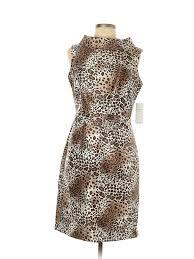 Details About Nwt Teri Jon By Rickie Freeman Women Brown Cocktail Dress 10