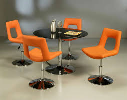 room ergonomic furniture chairs: awesome design of comfortable dining chairs with chrome legs also round black table