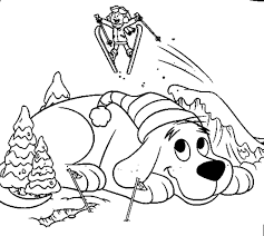 Small Picture clifford snow coloring pages printable clifford Coloring Pages For