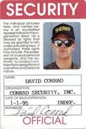 security guard badge template. SECURITY ID