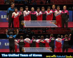 2018 world team championships the finals are yet to come but it is definitely a big day in table tennis history as the dpr korea and korea team will