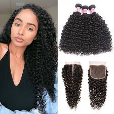Hair Length Chart Bundles Unice Hair Icenu Series 3 Bundles Indian Jerry Curly Human Hair With Lace Closure