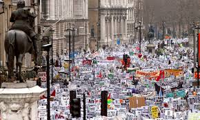 the world was right about wins clean break war protest in london from the guardian
