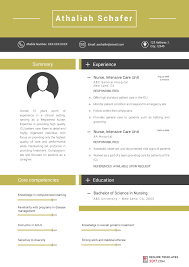 2017 Resume Awesome Nurse Resume Template Can Help You Write An Excellent CV