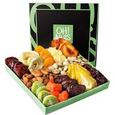 holiday nut and dried fruit gift basket healthy gourmet snack food box great