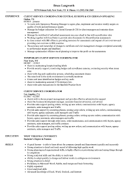 Service Coordinator Resumes Client Service Coordinator Resume Samples Velvet Jobs