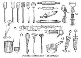 kitchen utensils drawing. Kitchen, Tool, Utensil, Vector, Drawing, Engraving, Illustration Kitchen Utensils Drawing