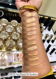 cle de peau beaute beauty ger foundation swatches foundation review makeup