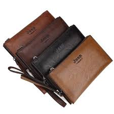 <b>JEEP BULUO Famous</b> Brand Leather Day Clutches For Men Wallet ...