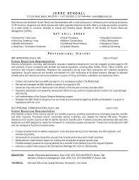 free human resources representative resume example sample human resources resumes