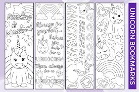 Try these free bookmark templates with different colors and desigs. Free Printable Unicorn Bookmarks To Color