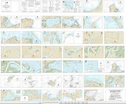 Noaa Chart Books Noaa Small Craft Book Chart 14842 Port Clinton To Sandusky Including The Islands Book Of 35 Charts