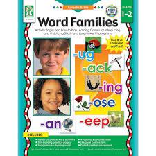 specific skills word families gr ke carson dellosa specific skills word families gr1 2 ke 804042 carson dellosa reading language arts word skills