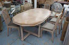 Dining Table Bespoke Made By Broche In Limed Oak With Centre Leaf