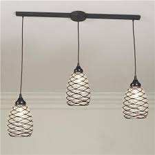 Three Pieces Of Hanging Pendant Light Adapter Different Height Setting With  Metal Web