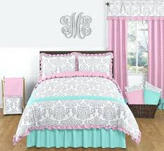 girls comforter sets pink gray and turquoise full queen girls bedding set of 3 childrens comforter