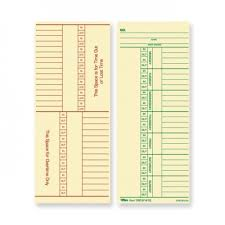 Timecard Ca Tops Named Days Overtime Time Card Time Clock Supplies Best Buy