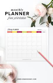 Free Printable Monthly Planner Start Planning Your Month
