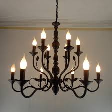 black metal chandelier. Vintage Black Metal Chandeliers Wrought Iron Home Chandelier For Living Room Industrial Rustic Candelabra H