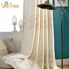 plum flowers embroidered linen curtains in living room past bedroom window curtain 3 colors custom made in curtains from home garden on aliexpress com