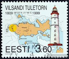 Nautical Chart Wall Mural Vilsandi Lighthouse And Nautical Chart Estonia 1999 Wall Mural Vinyl
