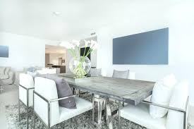 white modern dining table modern dining room with reclaimed wood table and silver chairs with white
