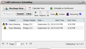 Using One X Portal Conference Scheduling