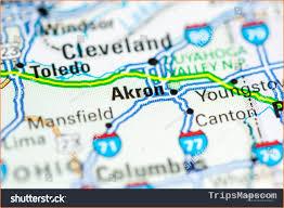 Map Of Akron Where Is Akron Akron Map English Akron