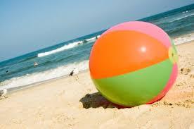 beach ball in sand. Contemporary Beach On Beach Ball In Sand N