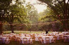 diy outdoor wedding lighting. Backyard Wedding...love The Lights, Simplicity, And Comfortable Vibe! Diy Outdoor Wedding Lighting N