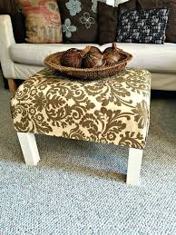 diy ottoman coffee table ottoman coffee table how to turn a plain old end table into a diy fabric ottoman coffee table