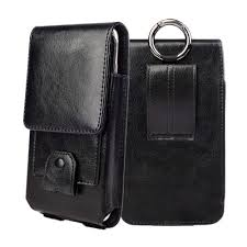 details about vertical real leather case cover pouch belt loop holster for large cell phones