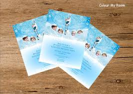 make your own frozen invitations