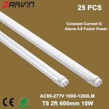 2ft Fluorescent Light Us 130 5 25 Pcs Darvin Fluorescent Tube T8 2ft Led Tube Lamp 600mm 10w Light Ac85 277v Input Led Light Bulb Tube T8 60cm In Led Bulbs Tubes From