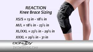 Donjoy Ankle Brace Size Chart Donjoy Reaction Knee Brace Sizing How Measure For The Right Size