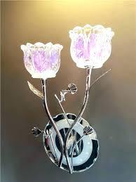 flower wall lamp light led glass 2 pink