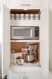 Disappearing Microwaves Decoration Rangement Cuisine Armoire De
