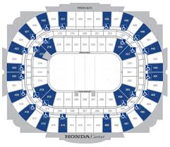 Call Center Seating Chart Ada Accessibility Honda Center