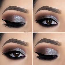 stylish silver eye makeup