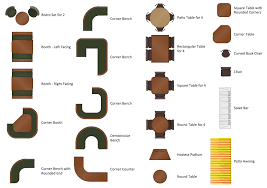 restaurant dining table png. design elements - cafe and restaurant floor plan furniture dining table png