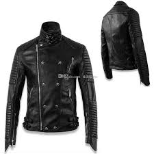 2018 skull patch punk leather jacket men fashion design skinny fit short style pu biker wear man from itdesign 90 46 dhgate com