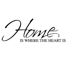 Home Is Where The Heart Is Wall Sticker Wall Quotes Wall Stickers Cool Home Is Where The Heart Is Quote