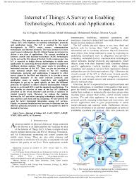 Pdf Internet Of Things A Survey On Enabling Technologies